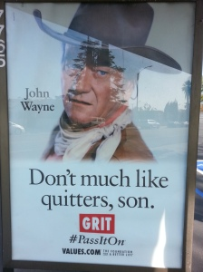 John Wayne values billboard